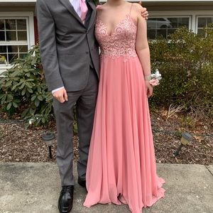 Pink/salmon prom dress